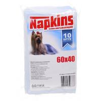 Фотография товара Пеленки для собак Napkins, размер 60х40см., 10 шт.