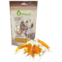 Фотография товара Лакомство для собак Organix Chicken fillet/ calcium twisted