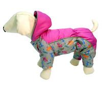 Фотография товара Комбинезон для собак Osso Fashion, размер 35, серый/фуксия