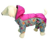 Фотография товара Комбинезон для собак Osso Fashion, размер 22, серый/фуксия