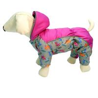 Фотография товара Комбинезон для собак Osso Fashion, размер 37, серый/фуксия