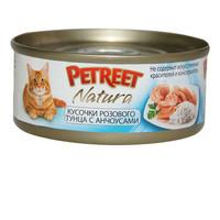 Фотография товара Корм для кошек Petreet, 85 г, тунец с анчоусами