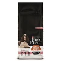 Фотография товара Корм для собак Pro Plan Adult 7+ Medium&Large Sensitive Skin, 14 кг, лосось