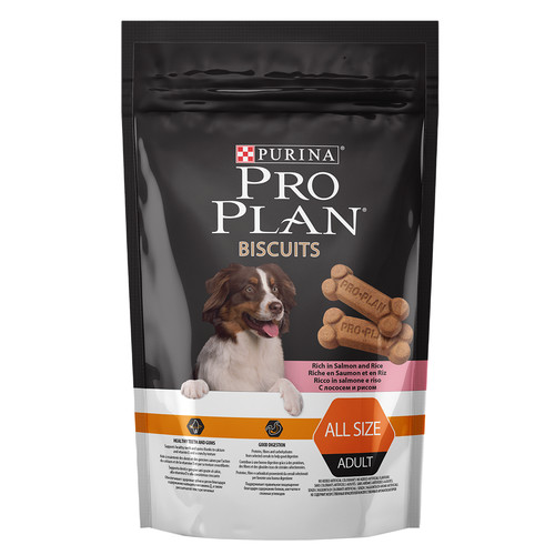 Лакомство для собак Pro Plan Biscuits, 400 г, лосось с рисом