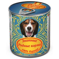 Фотография товара Корм для собак Родные корма Знатные, 340 г, курица