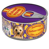 Фотография товара Корм для собак Родные корма Знатные, 100 г, индейка