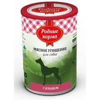 Фотография товара Корм для собак Родные корма Мясное угощение, 340 г, язык