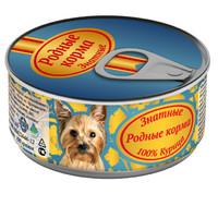 Фотография товара Корм для собак Родные корма Знатные, 100 г, курица