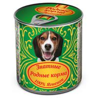 Фотография товара Корм для собак Родные корма Знатные, 340 г, ягненок