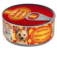 Фотография товара Корм для собак Родные корма Знатные, 100 г, говядина