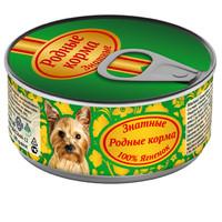Фотография товара Корм для собак Родные корма Знатные, 100 г, ягненок