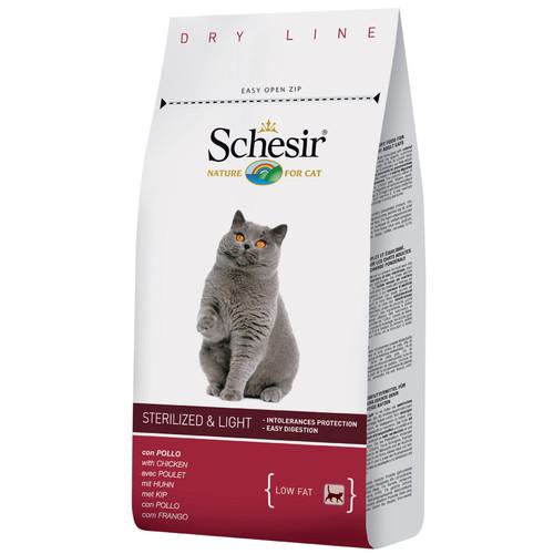 Корм для кошек Schesir Sterilized & Light, 400 г, курица