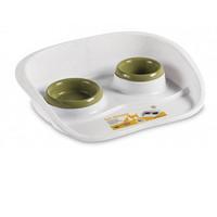 Фотография товара Поднос с мисками Stefanplast Set Dinner, размер 35х45х8см., бело-зеленый
