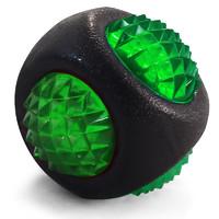Фотография товара Игрушка для собак Triol Шар-диамант, размер 7.7см., черно-зеленый