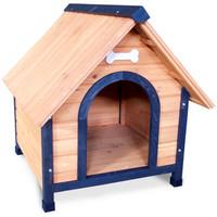 Фотография товара Деревянная будка для собак Triol, размер 1, размер 70x76x76см.