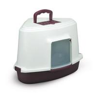 Фотография товара Закрытый угловой туалет для кошек Triol, размер 40х56.5х42.5см., цвета в ассортименте