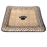 Фотография товара Лежак для собак и кошек Triol Лапка , размер 58x58см., бежевый с лапками