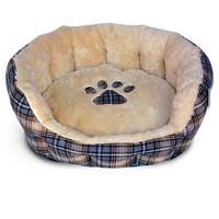 Фотография товара Лежак для собак Triol, размер 53x47x21см., беж/клетка