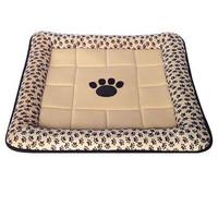 Фотография товара Лежак для собак и кошек Triol Лапка , размер 67x67см., бежевый с лапками