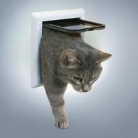 Фотография товара Дверца для кошек Trixie, размер 16.5х17.4см., белый