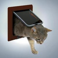 Фотография товара Дверца для кошек Trixie, размер 16.5х17.4см., коричневый