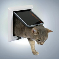 Фотография товара Дверца для кошек и собак Trixie, размер 16.5х17.4см., белый