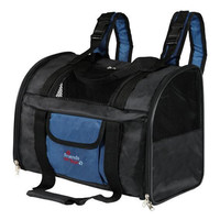 Сумка-рюкзак для собак и кошек Trixie Connor, черно-синий, размер 42х29х21см.