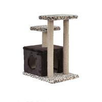 Фотография товара Домик-когтеточка для кошек Велес Квадрат, размер 50х35х60см., цвета в ассортименте