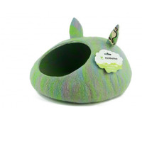 Фотография товара Домик для животных Zoobaloo Уютное гнездышко, размер 40х40х20см., мультиколор салатовый