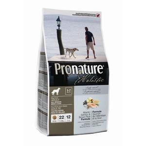Фотография товара Корм для собак Pronature Holistic Dog skin & coat, 2.72 кг, лосось с коричневым рисом