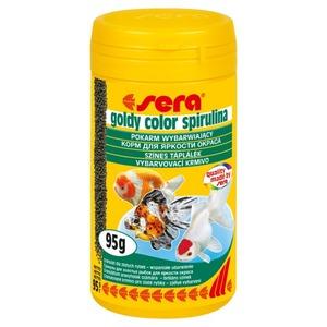 Фотография товара Корм для золотых рыб Sera Goldy Color Spirulina, 95 г