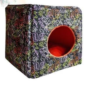 Фотография товара Домик-трансформер для собак и кошек Zooexpress, размер 42х42х40см., цвета в ассортименте