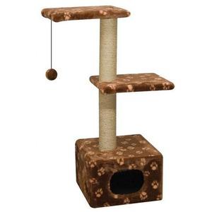 Фотография товара Домик-когтеточка для кошек Зооник, размер 40х36х98см.